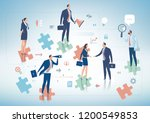 business solution. group of... | Shutterstock .eps vector #1200549853