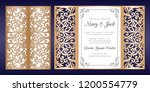 laser cut wedding invitation... | Shutterstock .eps vector #1200554779