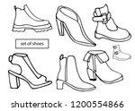 isolated vector set of women's... | Shutterstock .eps vector #1200554866