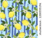 seamless citrus vector pattern...   Shutterstock .eps vector #1200555196