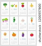 funny leafy calendar 2019 year...   Shutterstock .eps vector #1200557800