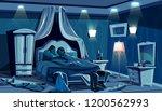 lovers sleep in bed vector... | Shutterstock .eps vector #1200562993