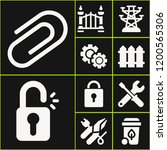 collection of 10 steel filled...   Shutterstock .eps vector #1200565306