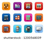 vector electronic icons set  ...   Shutterstock .eps vector #1200568039