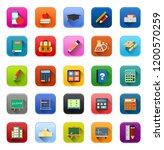 vector education icons set ... | Shutterstock .eps vector #1200570259