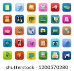 vector communication icons  ... | Shutterstock .eps vector #1200570280