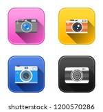 vector camera icons   photo... | Shutterstock .eps vector #1200570286