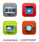 vector camera icons   photo... | Shutterstock .eps vector #1200570289