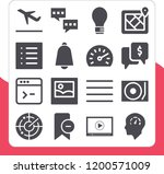 collection of 16 interface... | Shutterstock .eps vector #1200571009