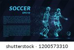 soccer of the particles carries ... | Shutterstock .eps vector #1200573310