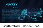 hockey from the particles.... | Shutterstock .eps vector #1200573766