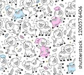 vector endless pattern with... | Shutterstock .eps vector #1200576406
