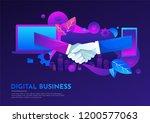 business people hand shake...   Shutterstock .eps vector #1200577063