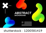 holographic modern colored... | Shutterstock .eps vector #1200581419