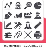 collection of 16 tool filled... | Shutterstock .eps vector #1200581773