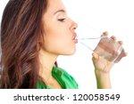 close up of pretty girl... | Shutterstock . vector #120058549