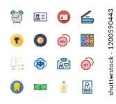 identification icon set. vector ... | Shutterstock .eps vector #1200590443