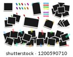set of realistic square... | Shutterstock .eps vector #1200590710