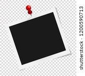 polaroid photo frame. square... | Shutterstock .eps vector #1200590713