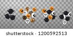 happy halloween. flying set of... | Shutterstock .eps vector #1200592513