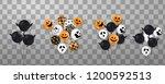 happy halloween. flying set of... | Shutterstock .eps vector #1200592513