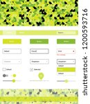 light green  yellow vector ui...