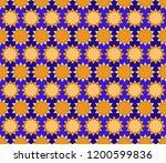 geometric arabic seamless...   Shutterstock .eps vector #1200599836