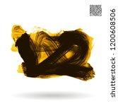 yellow brush stroke and texture....   Shutterstock .eps vector #1200608506