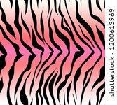 seamless tiger stripe pattern.... | Shutterstock .eps vector #1200613969
