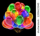 carnival party balloons bunch... | Shutterstock . vector #1200615340