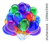 party balloons colorful.... | Shutterstock . vector #1200615343