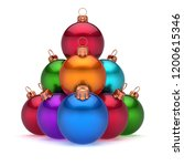 colorful christmas balls... | Shutterstock . vector #1200615346