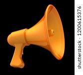 megaphone yellow communication... | Shutterstock . vector #1200615376