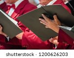 close up of mens choir members... | Shutterstock . vector #1200626203
