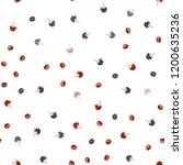 dark red vector seamless... | Shutterstock .eps vector #1200635236