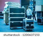 loading and unloading of... | Shutterstock . vector #1200637153