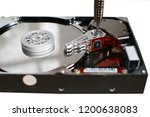 the hard disk is isolated  the... | Shutterstock . vector #1200638083
