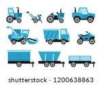 agricultural harvesting... | Shutterstock .eps vector #1200638863