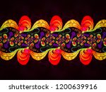 a hand drawing pattern made of... | Shutterstock . vector #1200639916