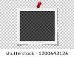 square polaroid frame template... | Shutterstock .eps vector #1200643126