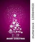 christmas and new year 2019... | Shutterstock .eps vector #1200644020