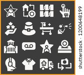 collection of 16 man filled... | Shutterstock .eps vector #1200648199