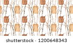 botanical watercolor. forest...   Shutterstock . vector #1200648343