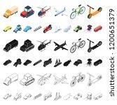 different types of transport... | Shutterstock .eps vector #1200651379