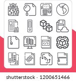collection of 16 transfer... | Shutterstock .eps vector #1200651466