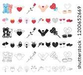 romantic relationship cartoon... | Shutterstock .eps vector #1200652669