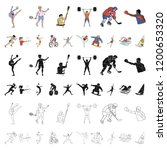 different kinds of sports...   Shutterstock .eps vector #1200653320