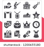 collection of 16 luxury filled... | Shutterstock .eps vector #1200655180