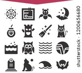 set of 16 nature filled icons...   Shutterstock .eps vector #1200656680