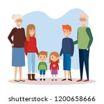 family parents with december... | Shutterstock .eps vector #1200658666